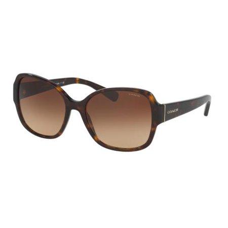 - COACH Sunglasses HC8166F 512013 Dark Tortoise 58MM