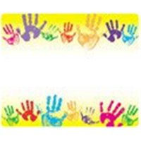 Name Tags Rainbow Handprints-36/Pk