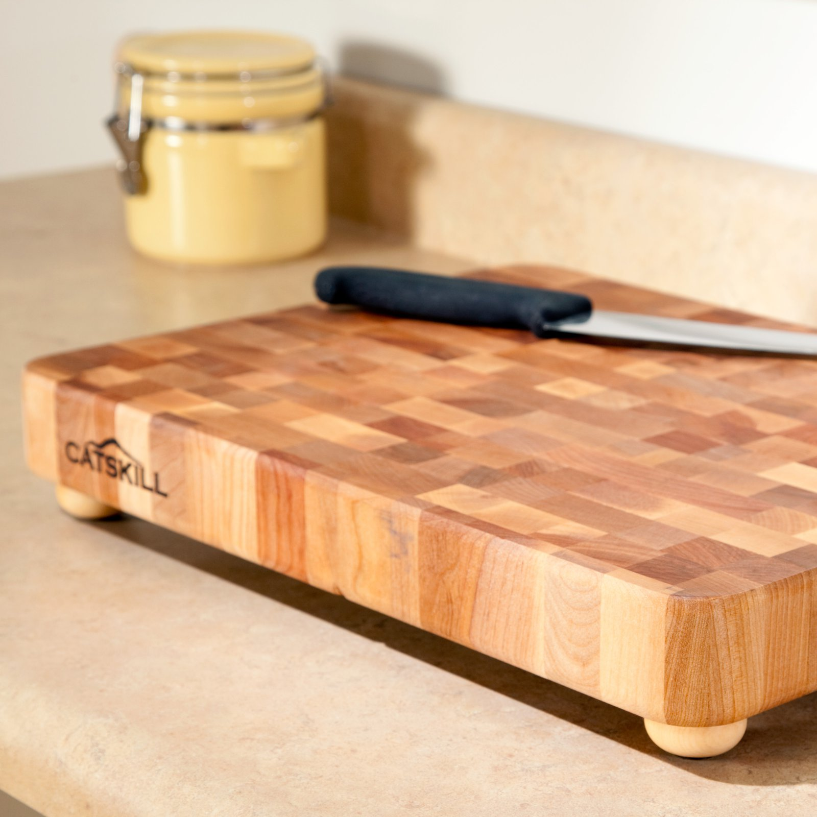 17 x 13 Professional End Grain Cutting Board with Feet