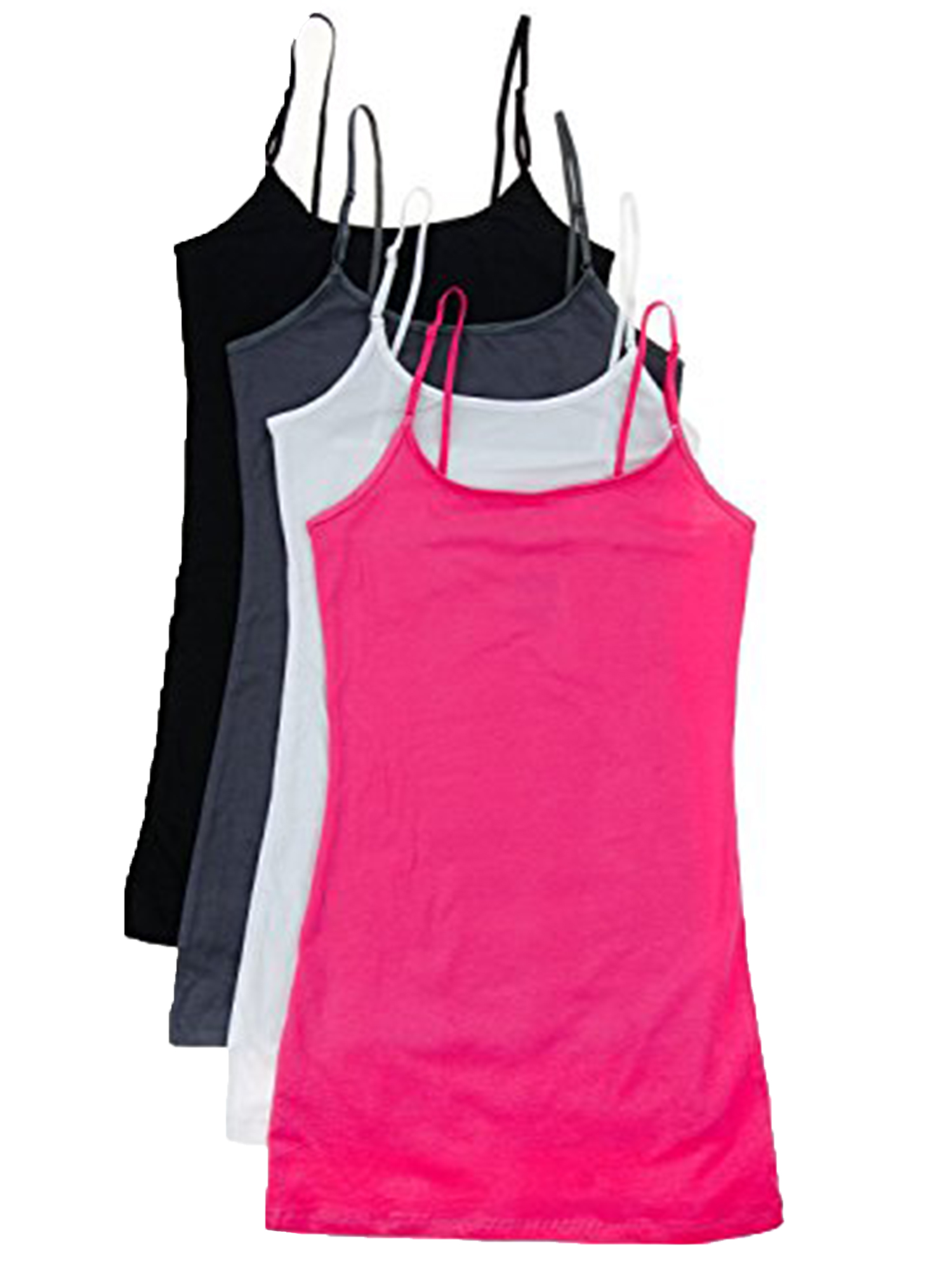 Essential Basic Women Value Pack Deal Cami Tanks Adjustable Spagetti Strap Many Colors - Small to 3XL