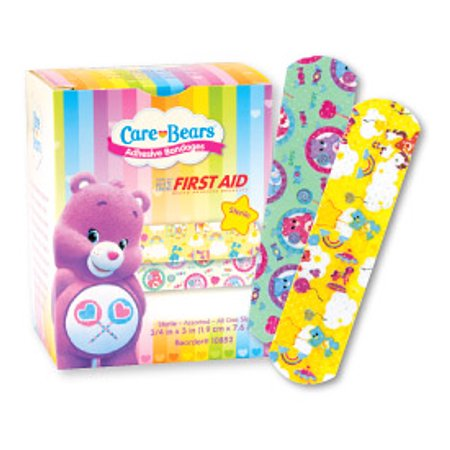 First Aid, Care Bears Bandages , 3/4 x 3 , 10852. Box/100
