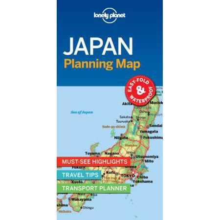 Travel guide: lonely planet japan planning map - folded map: