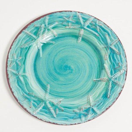 Galleyware Company Raised Starfish 11 39 39 Melamine Dinner Plate Set Of