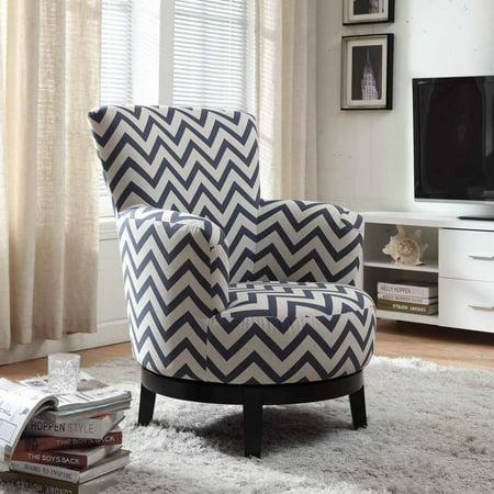 NH Designs Swivel Accent Chair Chevron Pattern ()