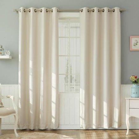 Curtains Ideas black out curtains walmart : Aurora Home Basketweave Linen Look Room Darkening Blackout Grommet ...