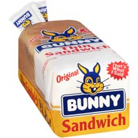 Bunny Original Thin White Enriched Sandwich Bread 24 oz. Loaf