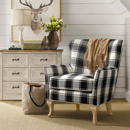 Dorel Living Middlebury Checkered Pattern Accent Chair