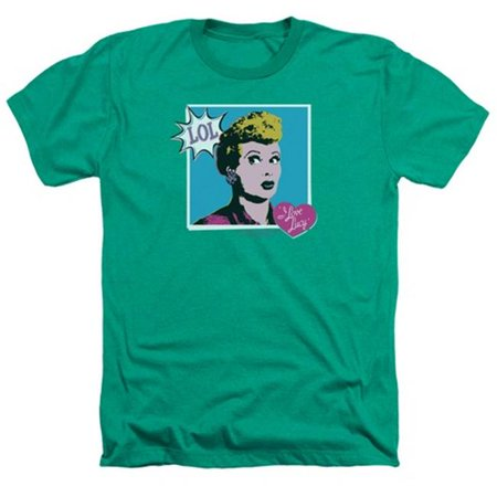 Lucy-I Love Worhol Lol Adult Heather Tee, Kelly Green - Medium - image 1 of 1