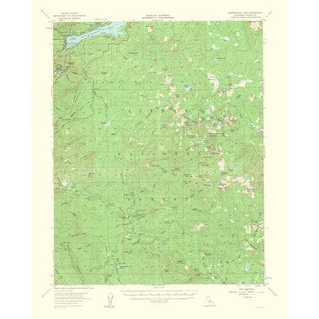 Old Topographical Map Print - Huntington Lake California Quad - USGS 1963 - 23 x 28.60