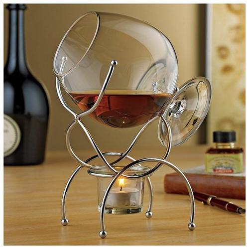 Wine Enthusiast 4 Piece Brandy Warmer Gift Set (Set of 2)