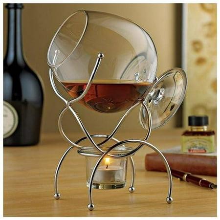 Wine Enthusiast 4 Piece Brandy Warmer Gift Set ()