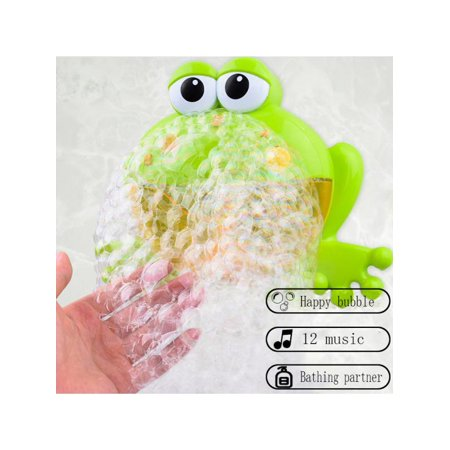 Baby Bath Bubble Machine Big Frogs Automatic With Music Water Bath Toys Educational Toy (Big Toddler Toys)