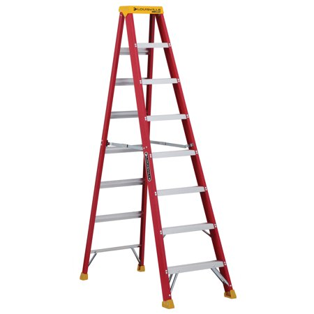 (Louisville Ladder L-3016-08 8 ft. Fiberglass Step Ladder, Type IA, 300 lbs. Load Capacity)