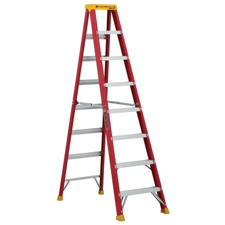 Louisville Ladder L 3016 08 8 Ft Fiberglass Step Ladder