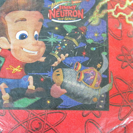 Jimmy Neutron Lunch Napkins (16ct) - Jimmy Neutron Party