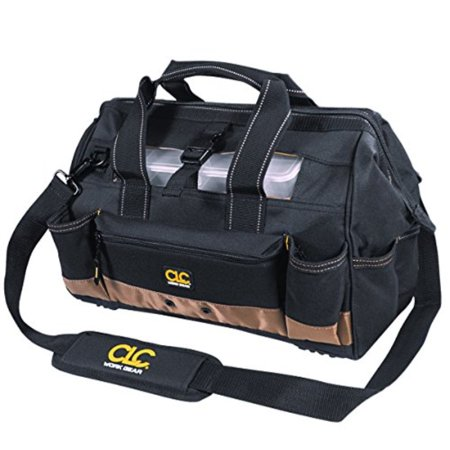 Custom Plastic Bags - clc custom leathercraft 1534 16 inch tote bag with top plastic tray and 23 pockets