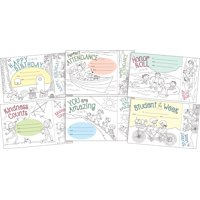 Barker Creek Color Me! Award & Bookmark Set (6 Designs)  180 Awards & 180 Bookmarks