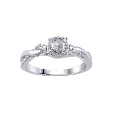 - 1/10 Carat T.W. Diamond Sterling Silver Promise Ring