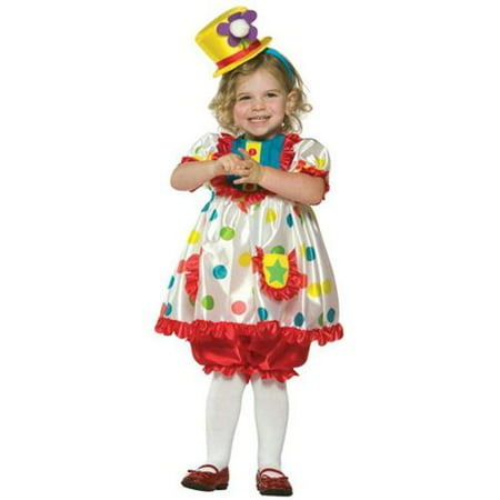 Rasta Imposta 9511RI Child Colorful Girl Clown Costume