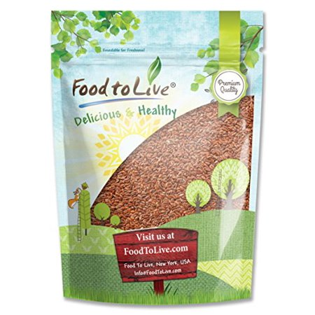 Flax Seed Gluten Free - Flax Seeds, 1 Pound - Kosher, Raw, Sproutable, Vegan - by Food to Live