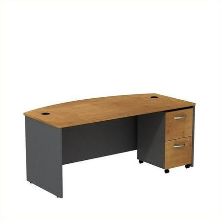 """Bush Business Series C 72"""" Bowfront Desk with Pedestal - image 1 de 1"""