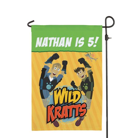 Personalized Wild Kratts Birthday Adventure Flag