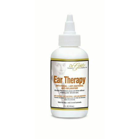 Dr. Gold's Ear Therapy for Dogs and Cats – Alcohol-free Medicated Formula, 4