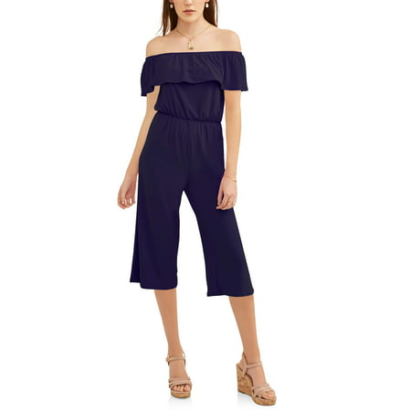 Women's Off the Shoulder Gaucho - Vault Jumpsuit For Sale