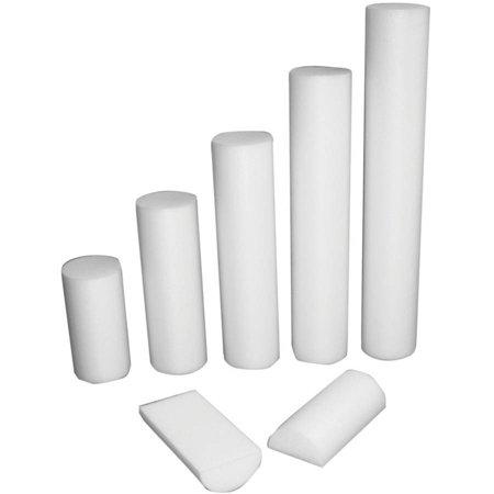 CanDo PE Professional Grede White Foam Roller Half-Round