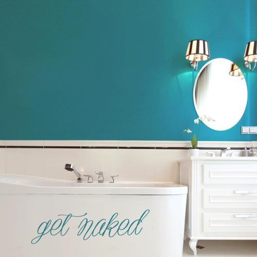 Sweetums Get Naked 48-inch x 14-inch Bathroom Wall Decal