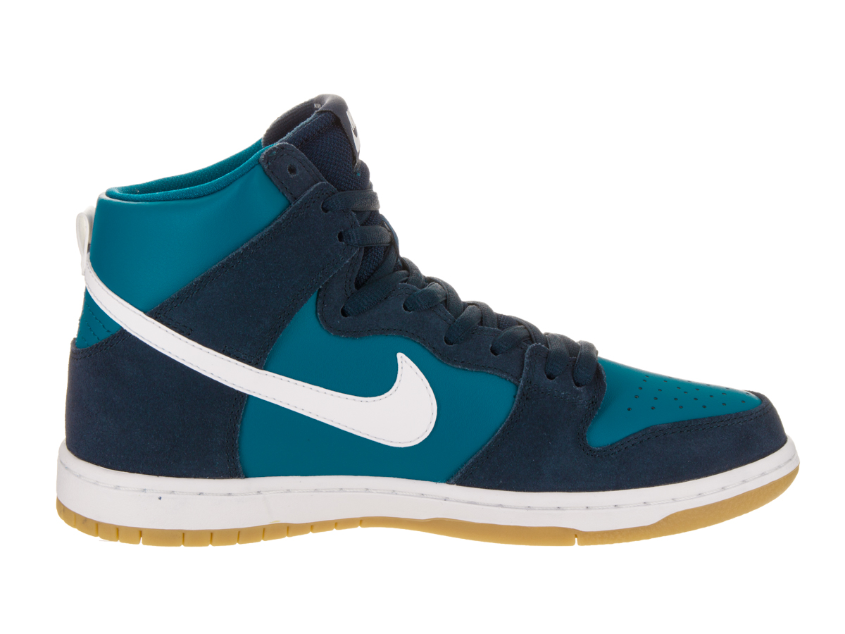 Mens Nike SB Zoom Dunk High Pro Obsidian Industrial Blue Gum Light Bro