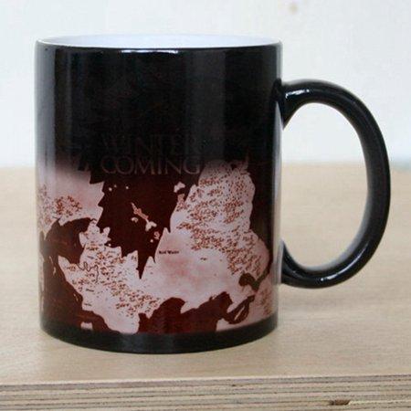 12oz Mug Heat Sensitive Color Changing Coffee Tea Mug Ceramic Mug Game of Thrones Map (Coffee Mug Color Changing)