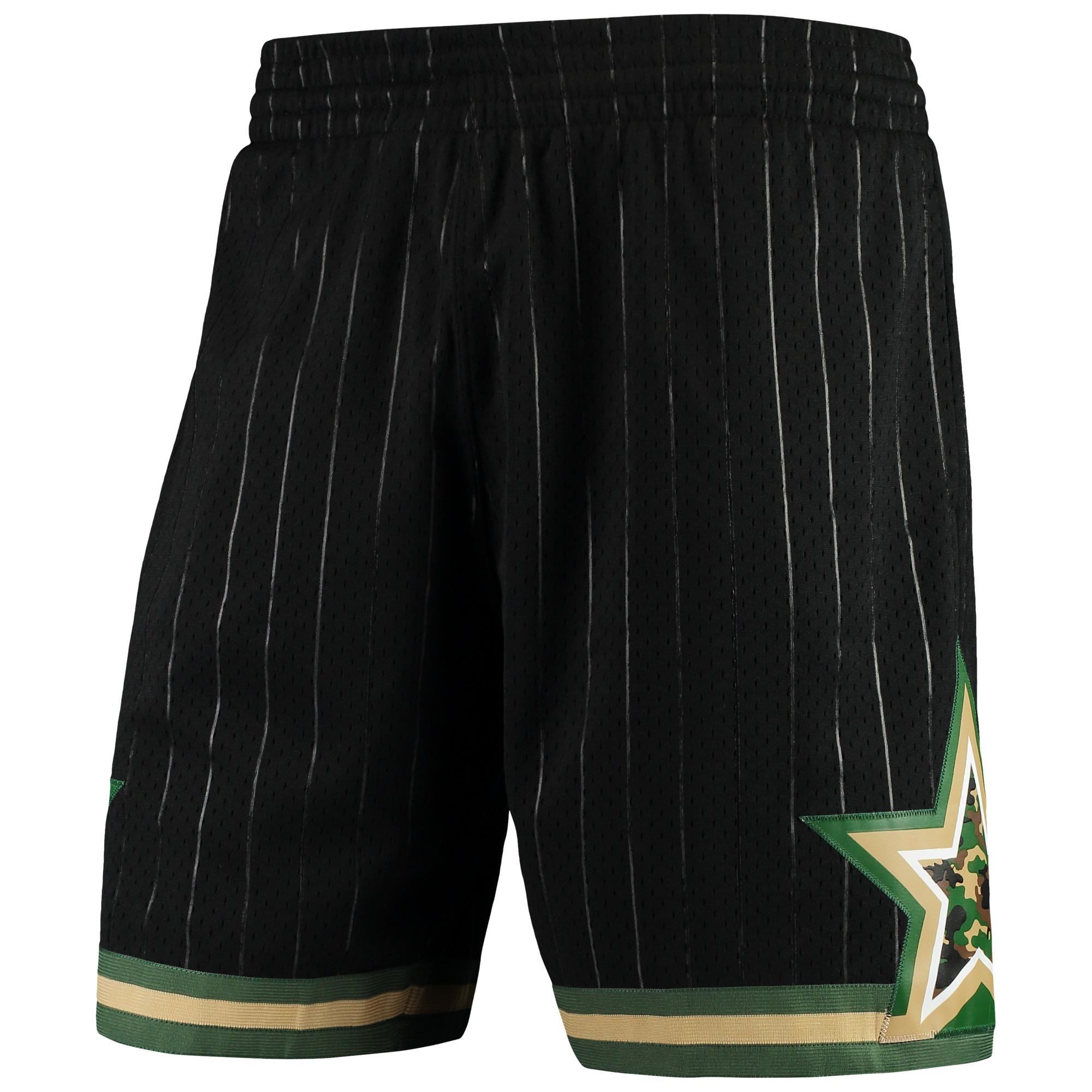 Orlando Magic Mitchell & Ness Hardwood Classics Straight Fire Camo Swingman Shorts - Black