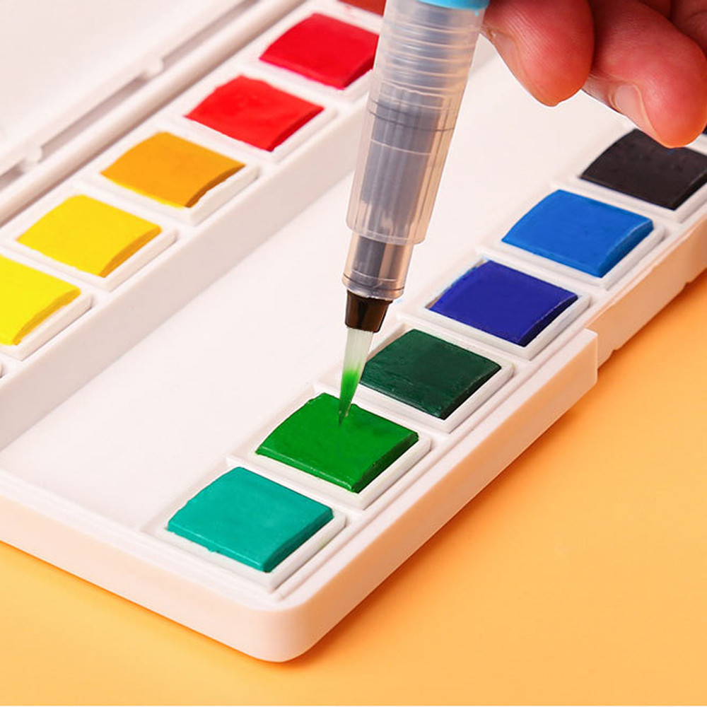 Refillable Pilot Water Brush Ink Pen for Painting Watercolor Drawing Pen Blue