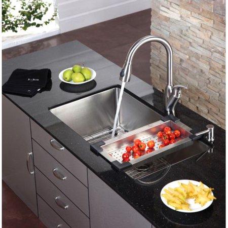 Stainless steel colander for kitchen sink - Walmart kitchen sinks ...