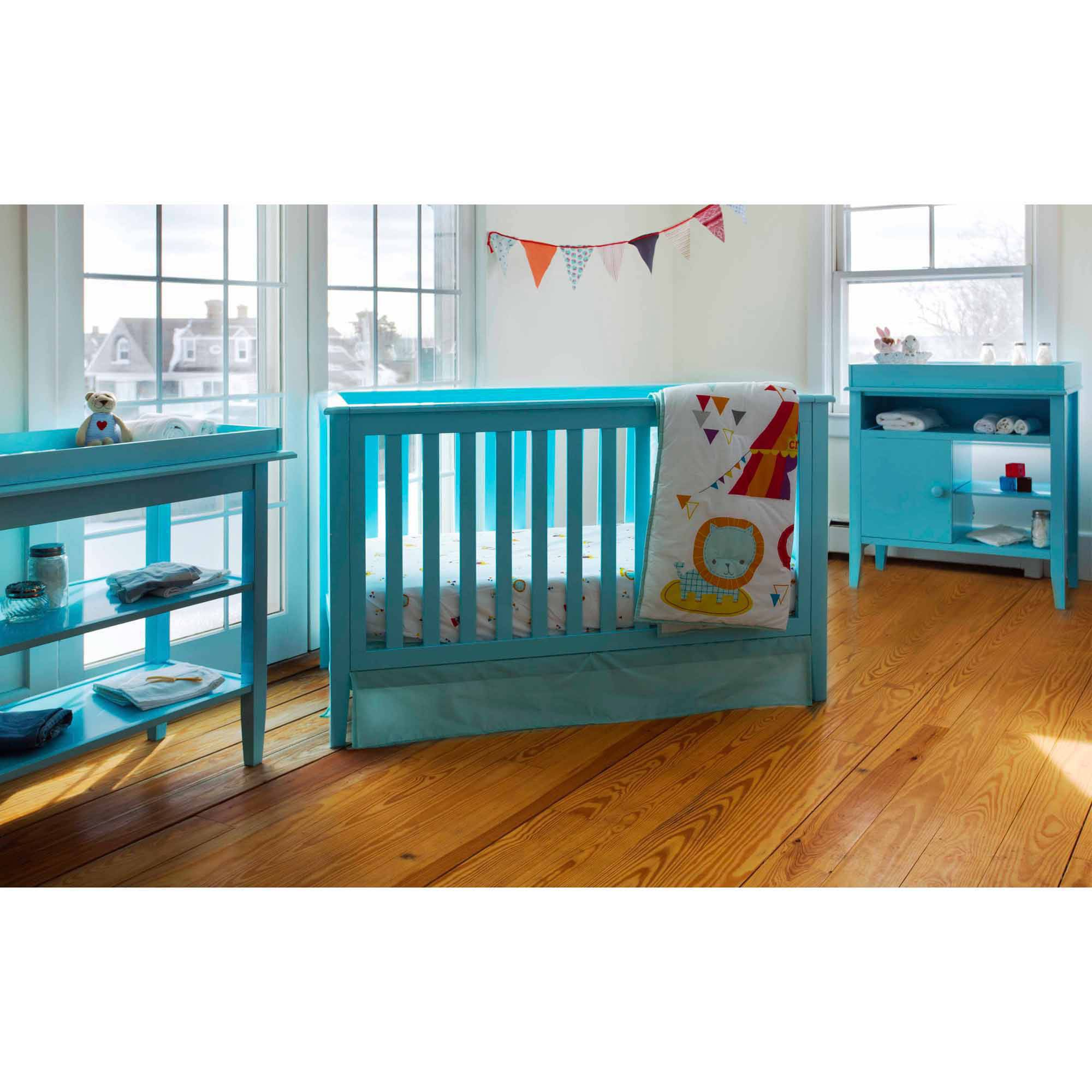 Lolly & Me Color Me 3-in-1 Convertible Crib Tiffany Blue