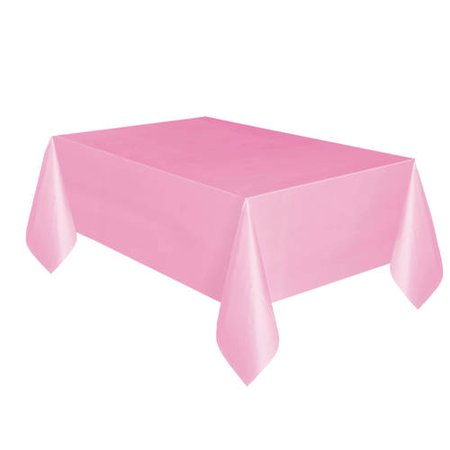 (2 pack) Unique Light Pink Plastic Tablecloth, 108 x 54 in, 4ct total (Pink Plastic Tablecloth)