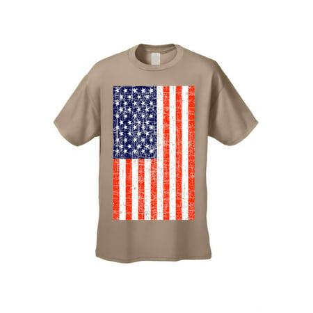 Usa Flag T Shirt Men S Distressed American Pride Short Sleeve Tee