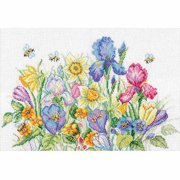"RTO Garden Flowers Counted Cross-Stitch Kit, 13-3/4"" x 9-3/4"", 16 Count"
