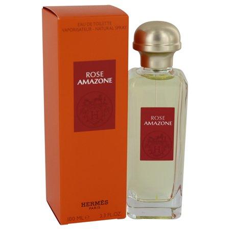 Rose Amazone by Hermes Eau De Toilette Spray 3.3 oz for Women