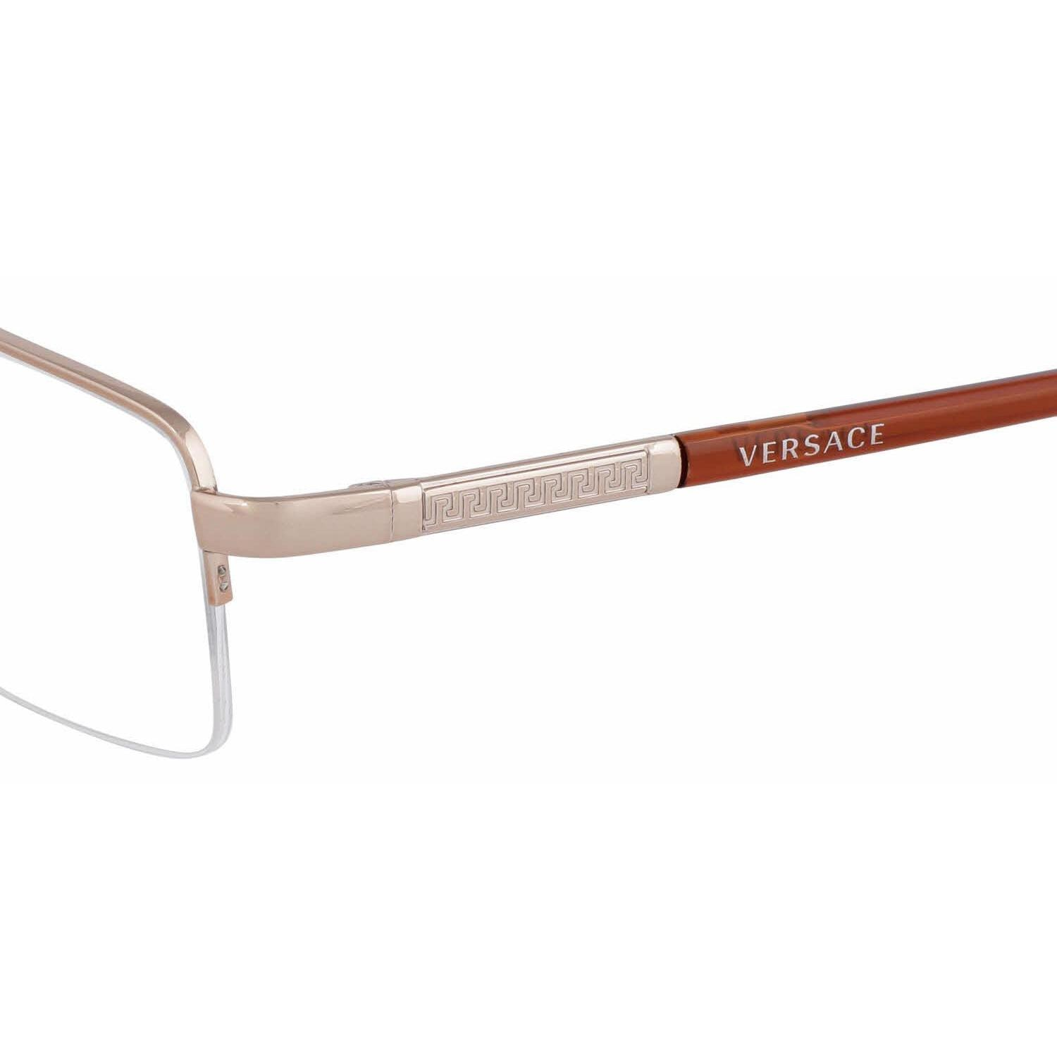 c33c03e1256c VERSACE Eyeglasses VE1066 1053 Brown 50MM - Walmart.com
