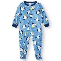 Matching Family Pajamas Baby Boy or Girl Unisex Penguin Union Suit Microfleece Blanket Sleeper