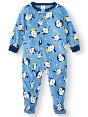 Jolly Jammies Matching Family Pajamas Infant Unisex Penguin Union Suit Microfleece Blanket Sleeper