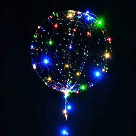 Led Lighted Balloons (Balloon LED Lights BoBo Bubble Balloon For Birthday Wedding Valentine Decoration)
