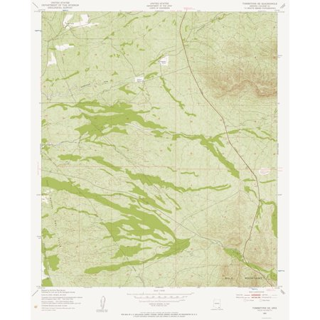 Topographic Map Arizona.Topographic Map South East Tombstone Arizona Quad Usgs 1952 23 X 28 37