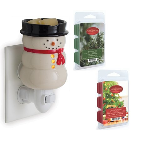 Snowman Christmas Holiday Pluggable Wax Melt Tart Fragrance Warmer Gift Set ()