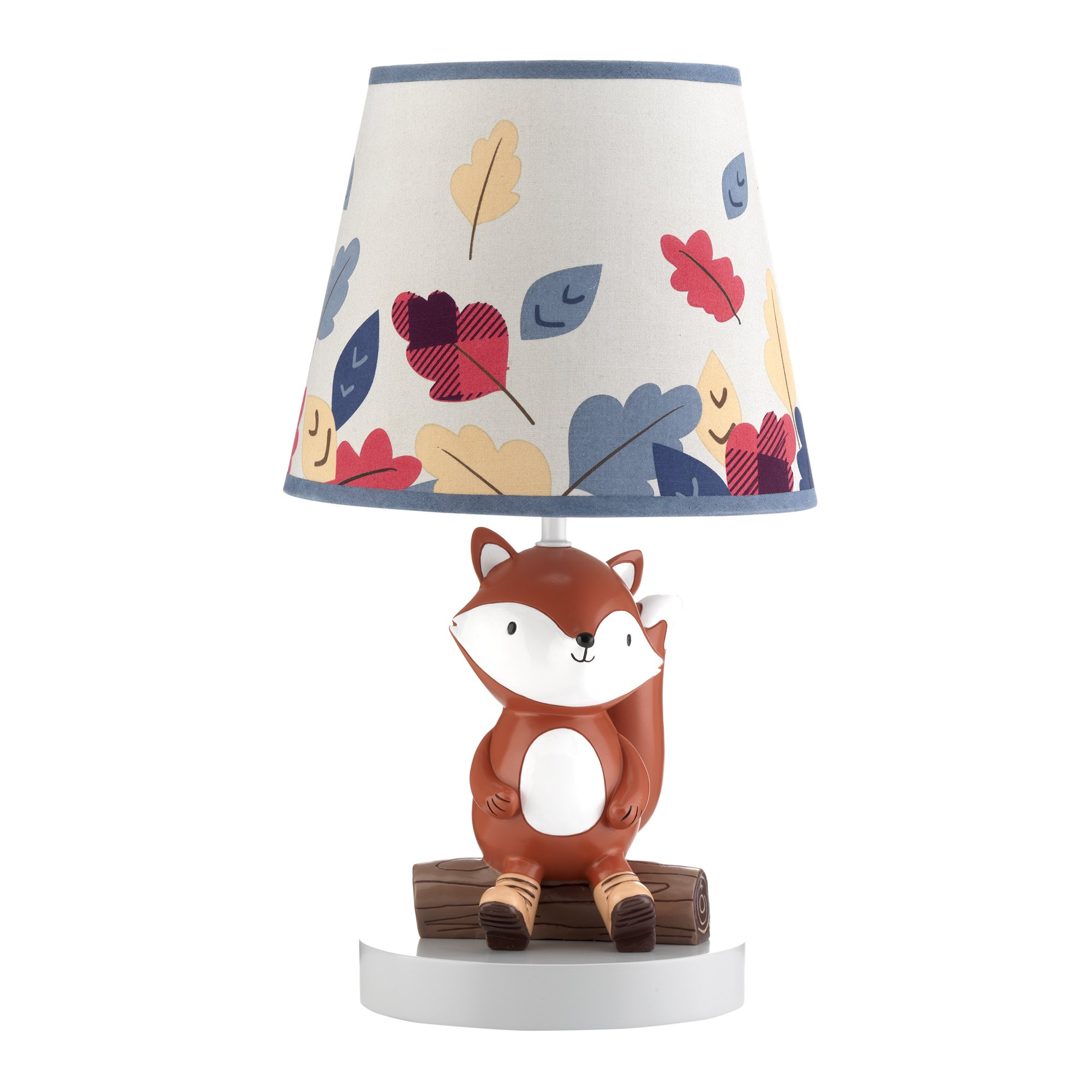 Lambs & Ivy Little Campers Gray Blue Woodland Fox Lamp with Shade & Bulb by Lambs & Ivy