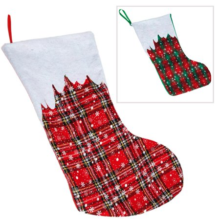 Plaid Christmas Stocking (Winter Plaid Christmas)
