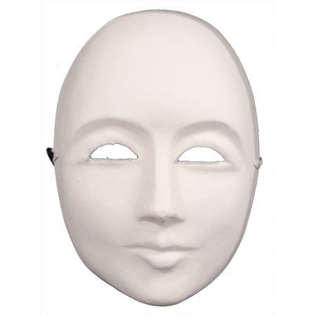 PLAIN WHITE FACE MASK - Blank Craft Masks - PAPER - Vintage Paper Mache Halloween Masks