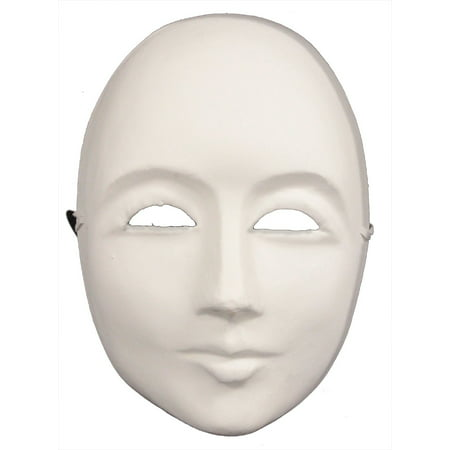 PLAIN WHITE FACE MASK - Blank Craft Masks - PAPER - Making Halloween Masks Paper Mache